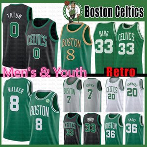 Kemba 8 Walker Jayson 0 Tatum NCAA Basketball Jersey Larry 33 Vogel Jaylen 7 Brown 20 Hayward Marcus 36 Smart-Jugend Herren Kinder