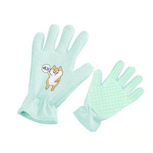 Cat Hair Beauty and Removal Brush Cleaning Gloves for Pet Cat Massage Comb Silica Gel Bath Cleaning Tools