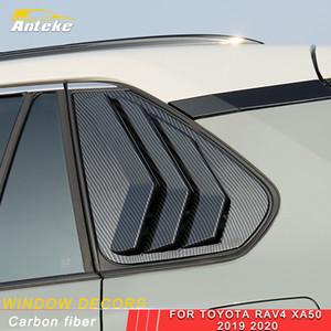 도요타 RAV4 RAV 4 XA50 2019 2020 자동차 후면 창 양산 롤러 블라인더 장식 커버 프레임 트림 스티커