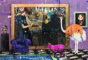 Angelo Accardi Oeuvres MUSIQUE POUR MES OREILLES Home Décor peint à la main HD Imprimer Peinture à l'huile sur toile Wall Art Toile Photos 200515
