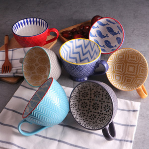 Tazza da colazione Milkcup di alta qualità Creativa tazza da dessert in ceramica tazza da dessert in ceramica dipinta a mano