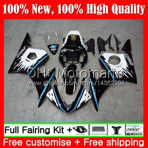 Blue black Bodys For YAMAHA YZF R6 S 06 YZF600 YZFR6S 06 07 08 09 102MT1 YZF-600 YZF R6S YZF-R6S 2006 2007 2008 2009 Fairing Bodywork Kit