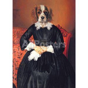 Handgemalte Hundekunst Ancestral Canines II Thierry Poncelet Ölgemälde für Wohnkultur