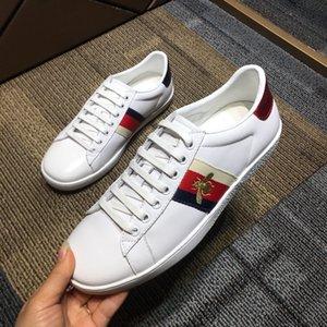 New arrivel scarpe da uomo di design de couro di lusso com projeto da abelha bordados para homens e mulheres de marcas de luxo sapatos casuais # 1F