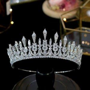 ASNORA 2020 новых диадем свадебных аксессуаров для волос 3A циркониевых уникального свадебного венец свадебного ювелирных аксессуаров для волос