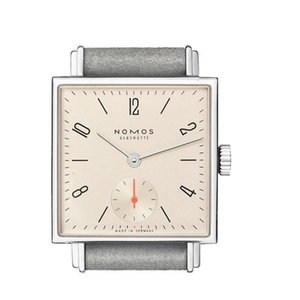 NOMOS Quartz Atmos Clock Date Lovers Watches Women Men Dress Watches Leather Gift Dress Wristwatches Fashion Casual Watches