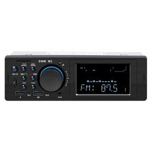 Bluetooth Car Stereo Radio MP3 Music Player 12V In-Dash 1 Din Autoradio FM AUX USB TF Input Auto Audio Multimedia Player SWM M2