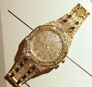 Hot Exquisite LuxuxMens Uhr-Art- und Iced Out Trend wasserdicht Quarz-Uhr Starry volle Diamant-Mode-Uhr