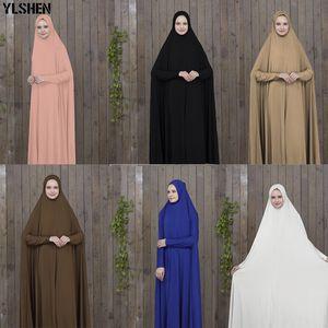Ramadan Abaya Dubaï prière musulmane Robe noire Vêtements Kaftan Avec Hijab Robes Femmes Arabe islamique ClothingTurkey Islam elbise
