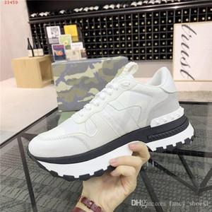 Homens Camuflagem calçados esportivos elemento casuais Low-top altura grossos sapatos de sola sportswear rendas-up aumentando sapatos, com caixa