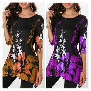 New Arrival Spring Summer T Shirt Tops Women Half Sleeve Slim O-Neck Print T Shirt Casual Vintage Floral T Shirt Plus Size 5XL Tops