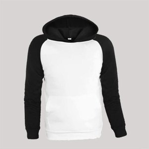 Mens New Jacket Hoodies Loose Casual Sports Color Matching Raglan Sleeve Hooded Pullover Sweatshirt Man Large Size S-3Xl