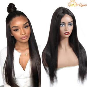 Pelucas de cabello humano recto 13x4 Peluca delantera de encaje 8-20inch Color Color Brasileño Pelucas de pelo recto sin procesar Pelucas frontales de encaje suizo
