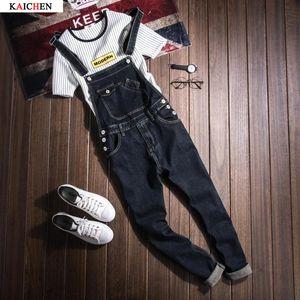 New Mens Cotton Denim Blue Overall Latzhose Jeans Men Fashion Casual Male Denim-Overall-lange Hose S-XXXL