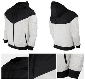Queda Fina Windrunner Nova moda Homens e Mulheres Pullover Hoodies Light Windbreak Frete grátis Zipper moletom com capuz 002