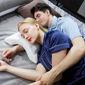 Memory Foam Bedding Pillow Anti-pressure Hand Pillow Ice Silk Slow Rebound Multifunction Home Silk Couple Beding
