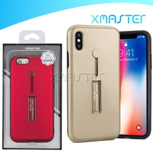 Cubierta de la caja del anillo de dedo titular pata de cabra híbrido para iPhone 11 11 Pro Pro X Max XR MOTO Una Hyper con menor xmaster Embalaje