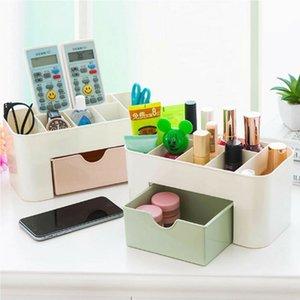 Dayanıklı Plastik Kozmetik Saklama Kutuları Organizatör Vakaları Makyaj Saklama Kabı Kutusu Ile Çekmece İşlevli Masaüstü Organizatör
