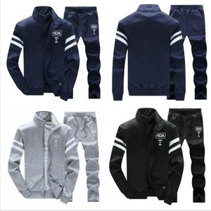 Fashion Tracksuits Two Piece Men Leisure Sport Suit Luxury Men's Sportswear Designer Jogger Set Cool Sweatshirt Jacket+Pants free shipping