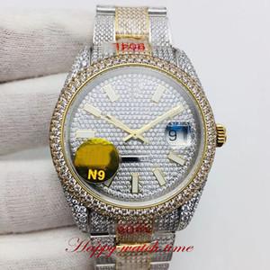 N9 الأعلى النسخة m126333 كامل الماس الطلب السوبر الآسيوية 2824 الياقوت التلقائية الرجال ووتش وارتفع الذهب الماس حالة 904L مصمم الساعات Luxry