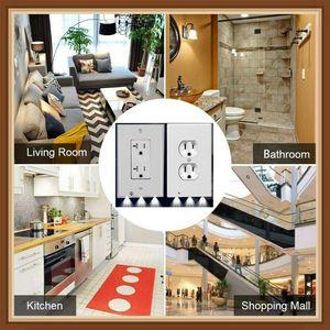 2020 Hot Hallway Emergency Lamp Outlet Cover Light Sensor Outlet Wall Plate with Led Night Lights Bedroom Bathroom Night Lamp Lights Lighter
