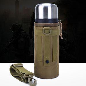 1.5 Liter Cup Holder Outdoor Male Sports Bottle Bag Camouflage One Shoulder Crossbody Travel Pocket Bag Accessory Kit