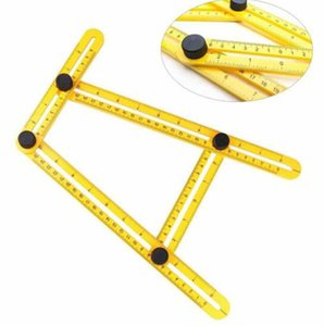 Free shipping Wholesales Folding Plastic Ruler Metric Scale Multifunctional Measuring Angle Ruler Gauges