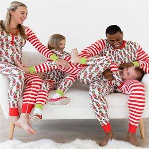 2018 Matching Familiar ropa a juego de Navidad pijamas Set Mujer Baby Elf niños ropa de dormir ropa de dormir de dibujos animados de la familia