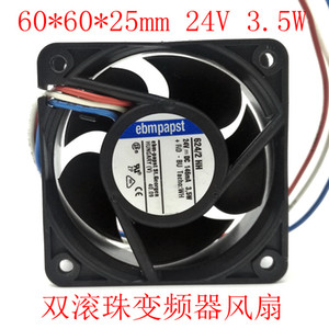 West German ebmpapst 6cm6025 double ball fan 624 2 HH industrial inverter industrial control cooling fan