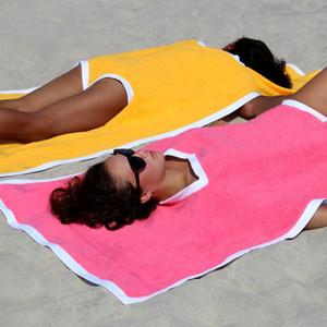 Towelkini Strand Ändern Bademantel Badetuch Poncho Quick Dry Outdoor Sports Adult Badeanzug-Schwimmen Handtuch HH9-2652