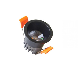 Noir ou blanc Mini LED Downlights de dimmable 100V-240V Affichage Bijoux plafond encastré Cabinet Lampe Spot