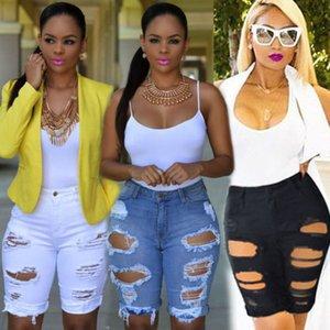 2020 Moda Donna Distrutto denim stretch Strappato Hole lavato Distressed pantaloncino corto jeans Dropshipping