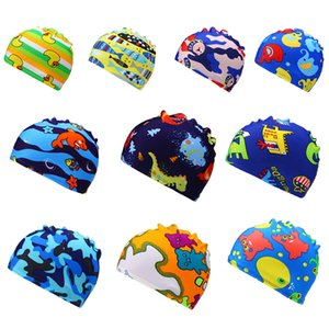 Children Kids Boy Girl Swimming Cap Sports Hat Cartoon Print 10 Colors fashion baby cap for 2-6 Years old baby & bonnet enfant