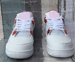 Nuevos 4 4s zapatos para hombre de los zapatos de baloncesto al aire libre Blanco Naranja Zapatos Bred trueno zapatillas deportivas sandalias Factory Outlet