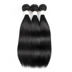 Kisshair Couleur # 1 Brésilien Heart Humain Cheveux Teans Jet Black 3 Bundle Offres de Bundle Raw Virgin Péruvien Malaisien Indian Cambodge Cheveux cambodgiens
