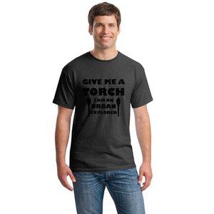 Urban Explorer Torcia tshirt tshirt uomini della lettera del cotone del 100% tondo collo della maglietta del ragazzo della HipHop Top