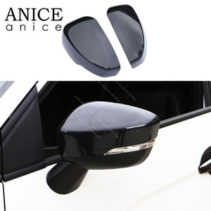 Ver fibra de carbono 2pc Cor Rear Side Espelho Capa para Mitsubishi Eclipse Cruz 2018 2019 2020 ABS