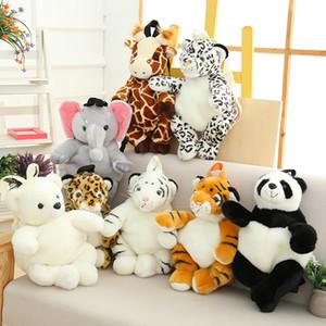 Caliente felpa animales mochila niños Kindergarten niños niñas mochila de peluche leopardo Tigre Panda Oso Polar monedero moneda libros bolsa 20172909
