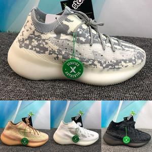 380 extranjeros Kanye West mujeres de los hombres zapatos para correr beluga arcilla de diseñadores de lujo blanco y negro de los hombres triples zapatos de alta calidad US 5-11,5