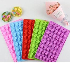 Dinozor Sakızlı Kalıp Silikon Yapışmaz BPA Free gummie Şeker Çikolata Kalıpları Ice Cube Dinozorlar Jelatin Tepsileri 50pcs