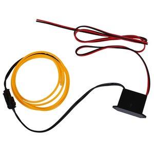 HOT LED Flexible EL Wire Neon Glow Tube Lamp Light 12V, 1M Yellow
