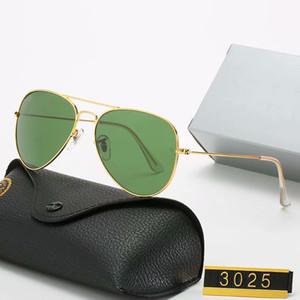 2020 heißen Verkaufs-Sonnenbrille Weinlese-Pilot Sonnenbrillen polarisiert UV400 Männer Frauen 3025 Sonnenbrille