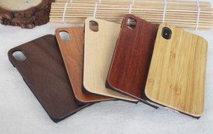 Bamboo Handmade per iPhone X Wood + Custodia in silicone Cover in legno per iphone 7/8 Plus xs max Custodia per Samsung Galaxy S8 S9 Plus