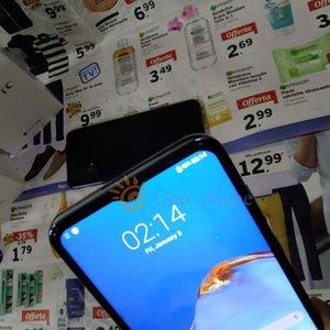 Goophone P40 Pro Com 3 câmeras do sistema Android 1GB + 8GB Mostrar Falso 4GB RAM 128GB ROM Falso 4G Desbloqueado Mobile Phone