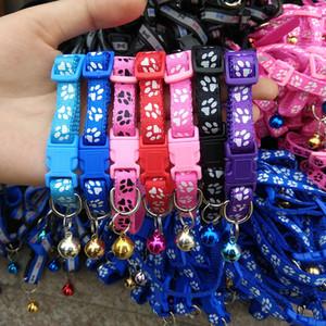 Einfache Wear Haustier Schnalle Kragen Welpen Bell-Halskette justierbarer Katze Hundehalsband im Freien Favor Geschenke für Haustier