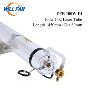 Will Fan 100W EFR F4 Co2 Laser Tube Length 1450mm Diameter 80mm For CNC Laser Engraving Cutter Machine