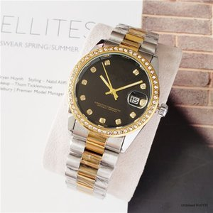 relogio masculino women men watches Luxury dress designer fashion Black Dial Calendar gold Bracelet butterfly Clasp Master gifts couples