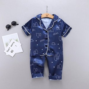 kids baby Boys girls home clothes Toddler print sleepwear tops Pants summer sets clothing for Boy Pajamas home Outfits suits ZM