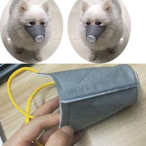 Pet köpek maskesi yumuşak yüz Pamuk ağız maskesi Pet solunum Pm2. 5 nefes köpek Namlu ile hava Mesh Pet Protectiv malzemeleri SML boyutu