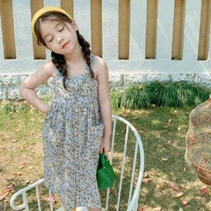 Mihkalev Off Shoulder Baby Girls 2020 Summer Backless Beach Dress For Kids Clothes Girl Floral Sundress Kids Children Clothing